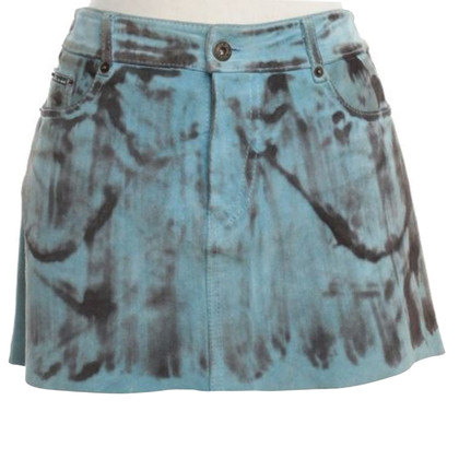 Dolce & Gabbana Suede skirt with pattern
