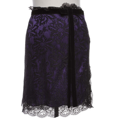 Dolce & Gabbana Violet skirt with black tip