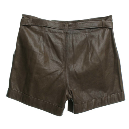 Marc Cain Leather shorts in brown