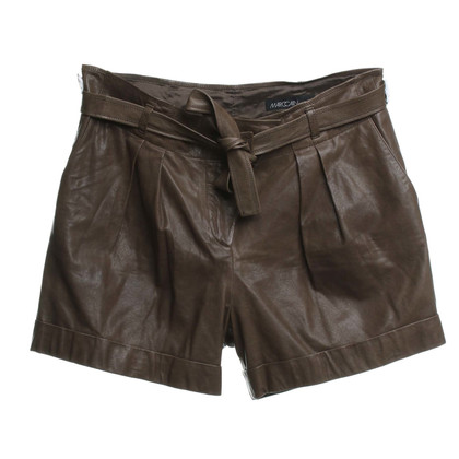 Marc Cain Leather Shorts Brown