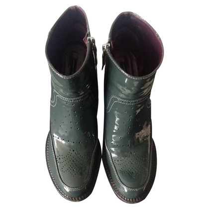 Mariella Burani Patent leather ankle boots