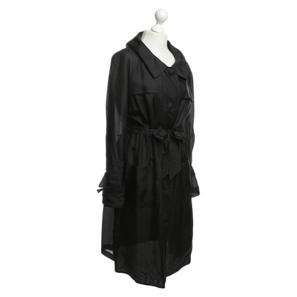 Laurèl Trench in seta nero