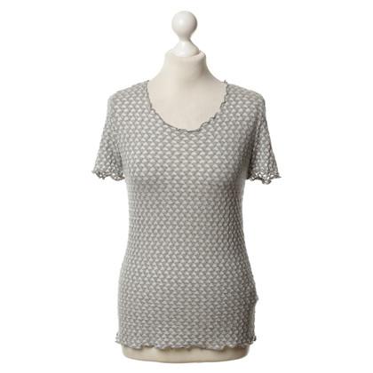 Armani Collezioni Shirt in Hellgrau/Weiß