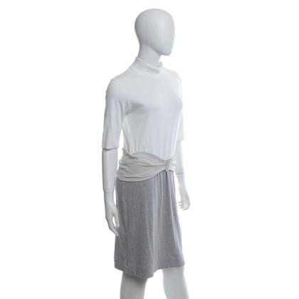 Marc Cain Jersey jurk in wit / grijs / beige