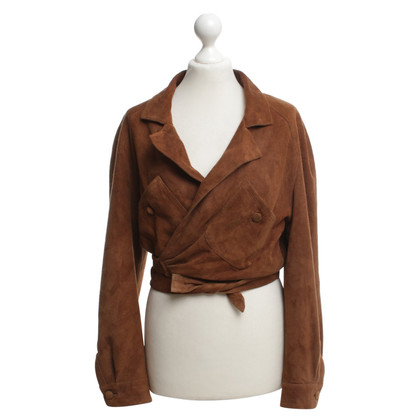 Blumarine Leather jacket in brown