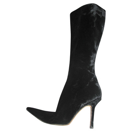 Jimmy Choo Velvet and leather boots