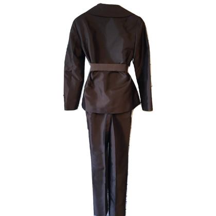 Dolce & Gabbana Bruin zijden broekpak
