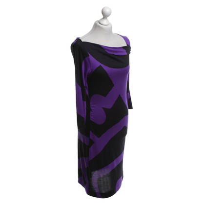 Diane von Furstenberg Kleid in Violett/Schwarz