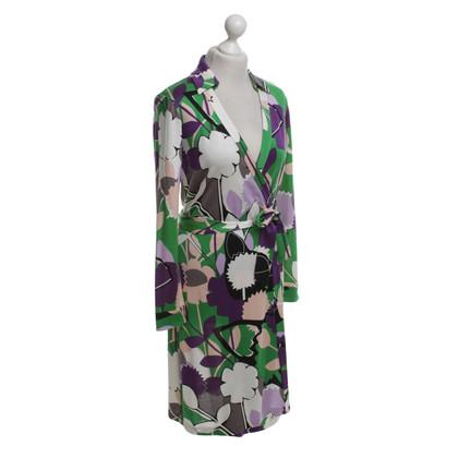Diane von Furstenberg Mehrfarbiges Wickelkleid aus Seide