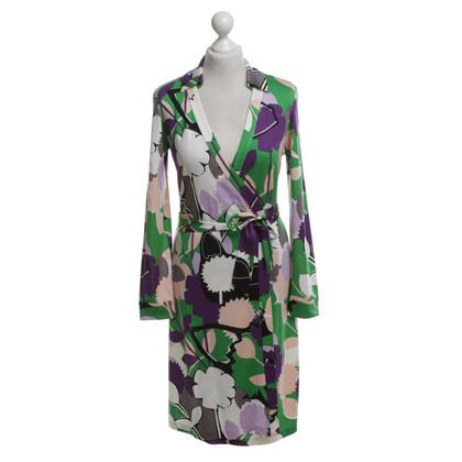 Diane von Furstenberg Multicolored silk wrap dress