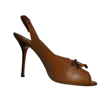 Christian Louboutin PERFORATED LEATHER PUMPS, SIZE 41.