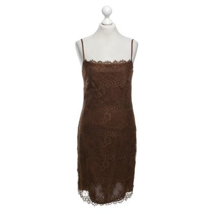 Rena Lange Kanten jurk in bruin