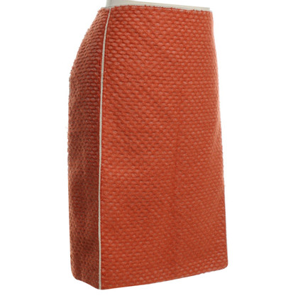 Bottega Veneta skirt in orange / cream