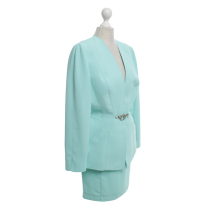 Mugler Costume in light turquoise
