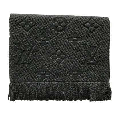 """Louis Vuitton """"Logomania Schal"""" in Anthrazit"""