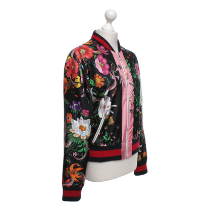 Gucci Bomber jacket with a floral pattern