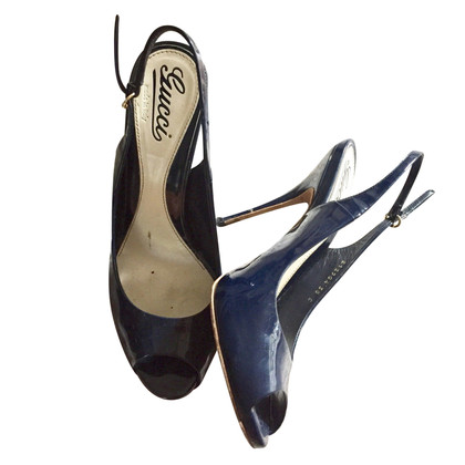 Gucci pumps Navy Blue Classic