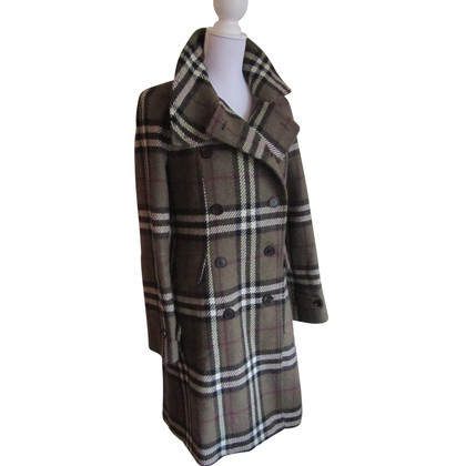 Burberry Lambswool checked coat.