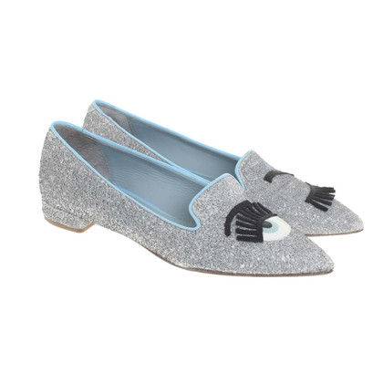 Chiara Ferragni Slipper avec garniture de paillettes