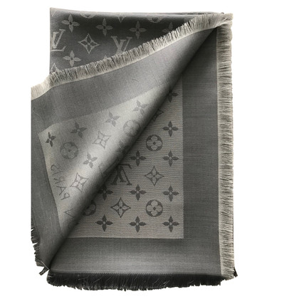 Louis Vuitton Monogram Shine-doek in zilver / grijs