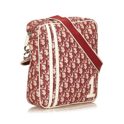 Christian Dior « Trotteur toile rouge épaule Bag »