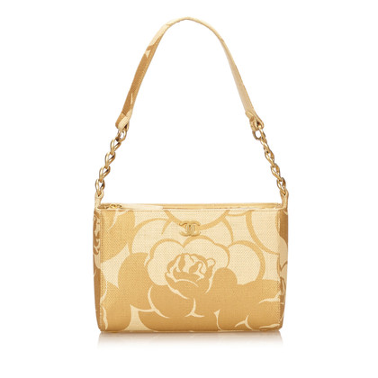 "Chanel ""Camelia Straw Shoulder Bag"""