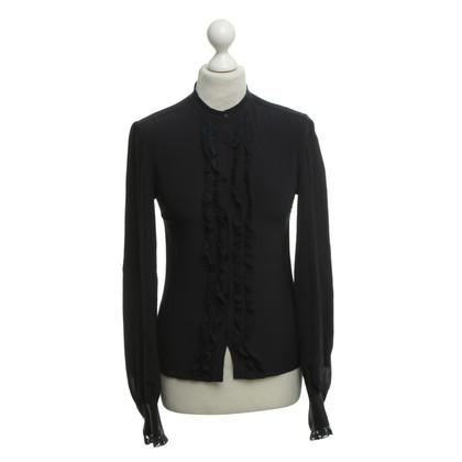 Max Mara Zijden blouse in donkerblauw