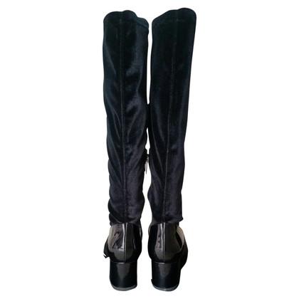 Marina Rinaldi Stivali in pelle verniciata nero
