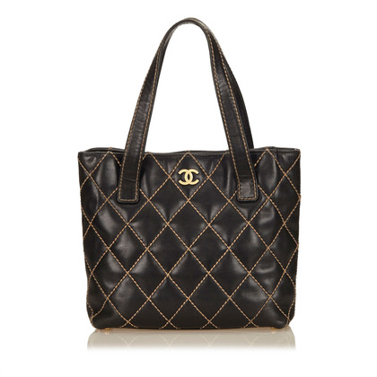 Chanel Leather Surpique Tote