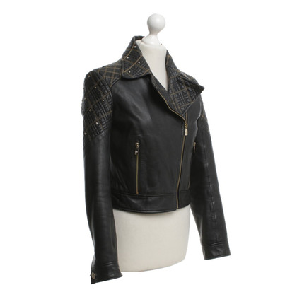 Versace Short jacket in biker style
