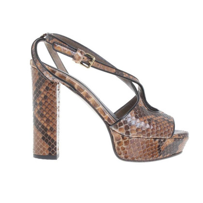 Marni High Heels made of python leather