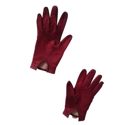 Hermès Handschuhe mit vergoldetem Anhänger
