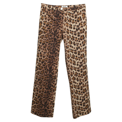 Moschino Animal-Print Hose in Beige/Braun
