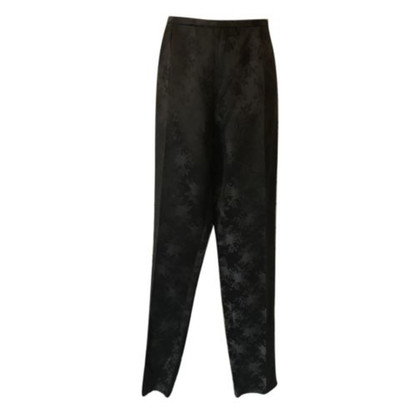 Max Mara Black Silky Tailored Evening Trousers