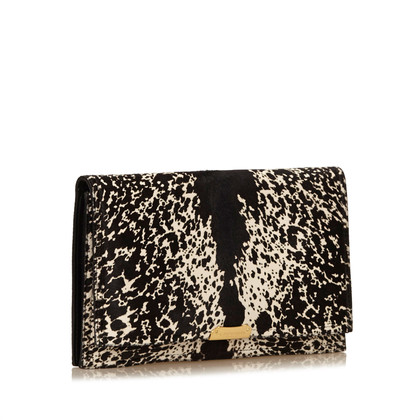 Burberry clutch met pony bont