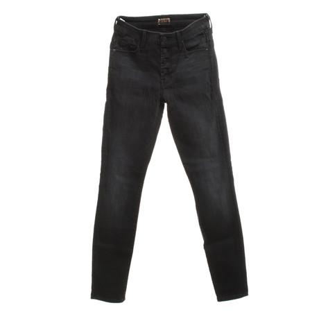 Mother Jeans in Schwarz Schwarz