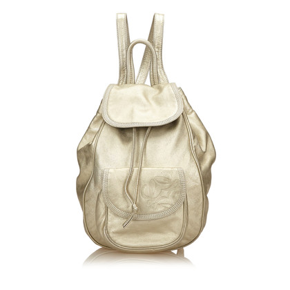 Loewe Metallic Leather Backpack