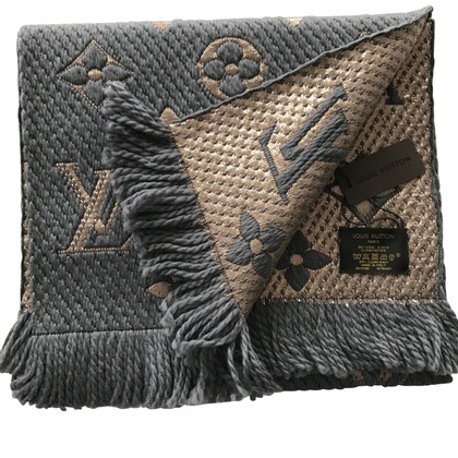 Louis Vuitton Logomania Shine Scarf Grey