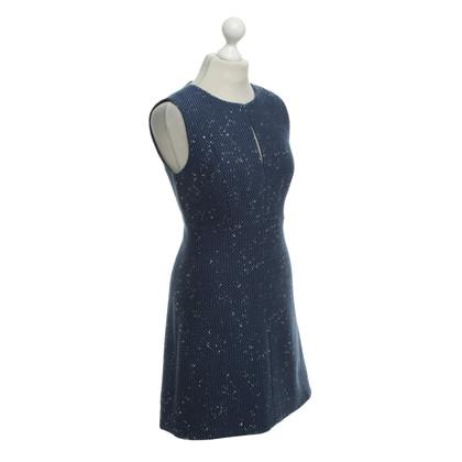 Diane von Furstenberg Kleid in Blau/Schwarz/Weiß