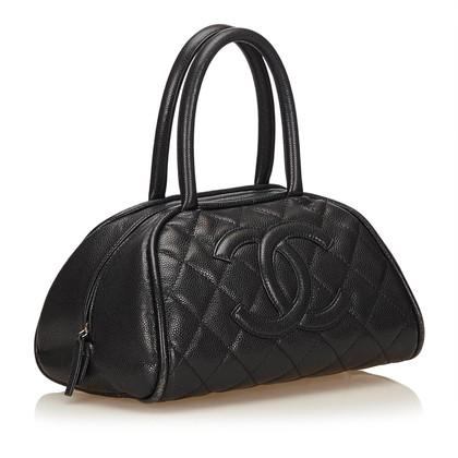 Chanel Schultertasche aus Kaviarleder