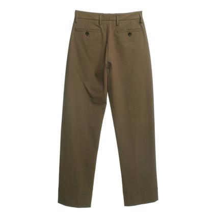 Prada trousers in olive green