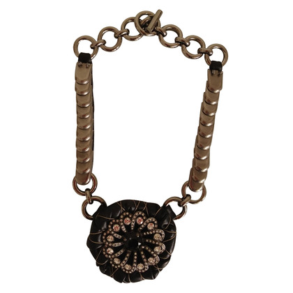 Miu Miu Leather and metal necklace Miu Miu