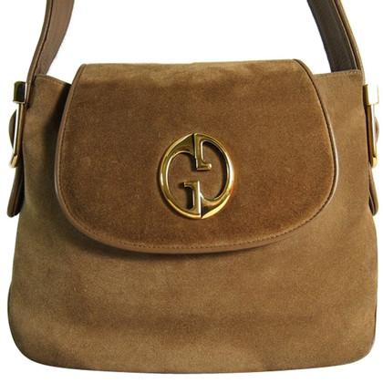 Gucci Suede leather shopper beige