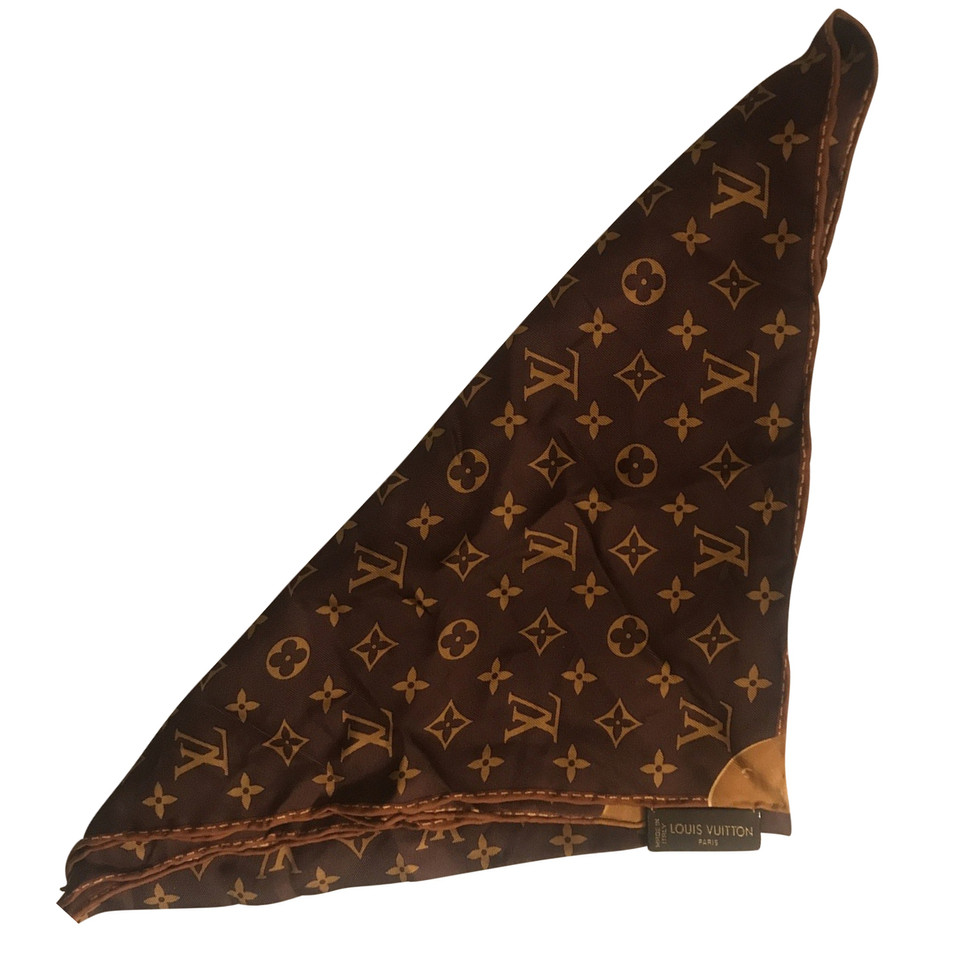 louis vuitton seidentuch mit monogram muster second hand. Black Bedroom Furniture Sets. Home Design Ideas