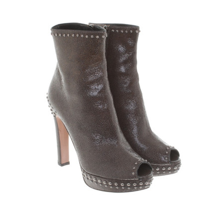 Prada Peep toe ankle boots with studs