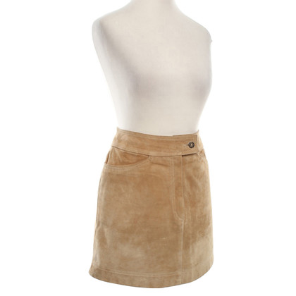 Dolce & Gabbana Wild leather skirt in beige