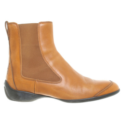 Hogan Cognac colored ankle boots