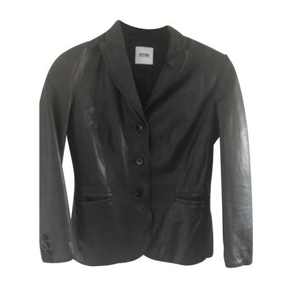 Moschino giacca di pelle