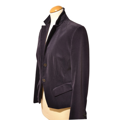 René Lezard Velvet blazer in purple