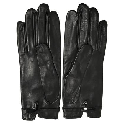 Hermès Gloves with Rhinestone Decor